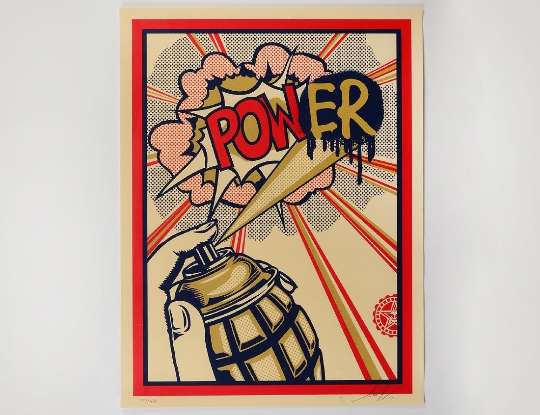 "Shepard Fairey ""Pow(ER)"" Screen Print"