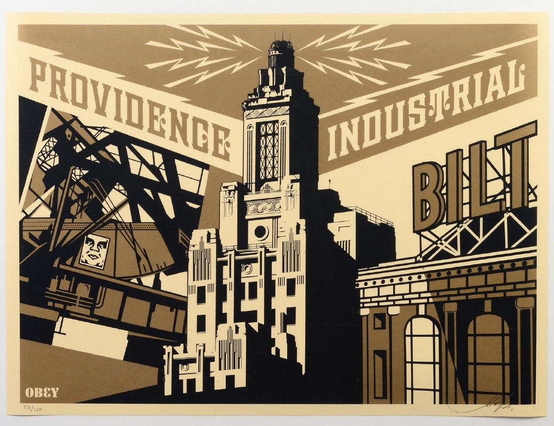 "Shepard Fairey ""Providence Industrial"" Screen"