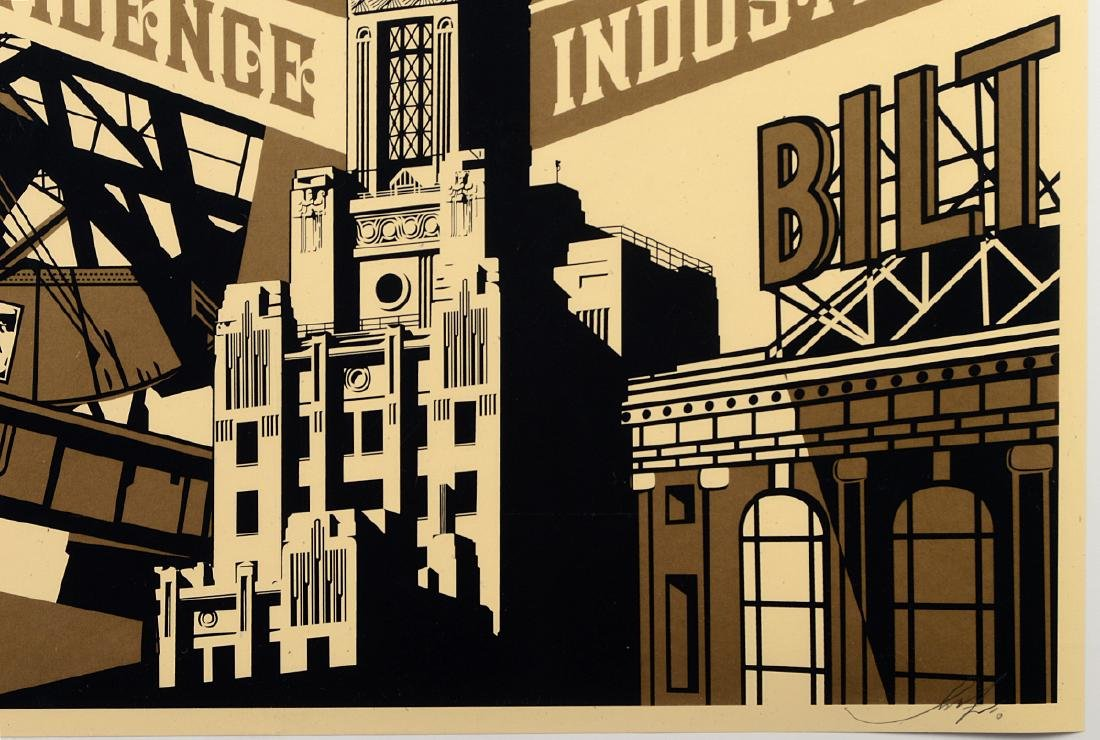 "Shepard Fairey ""Providence Industrial"" Screen - 2"