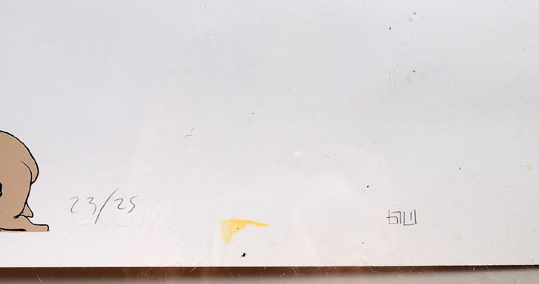 "Blu ""Demos"" Hand Colored Print - 4"