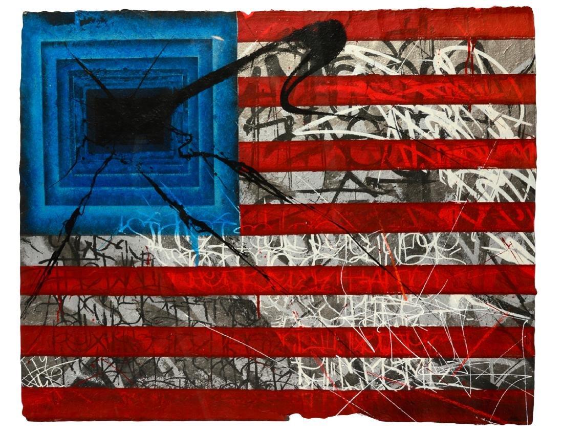 """Saber """"Rebel Flag"""" Print on Canvas"""