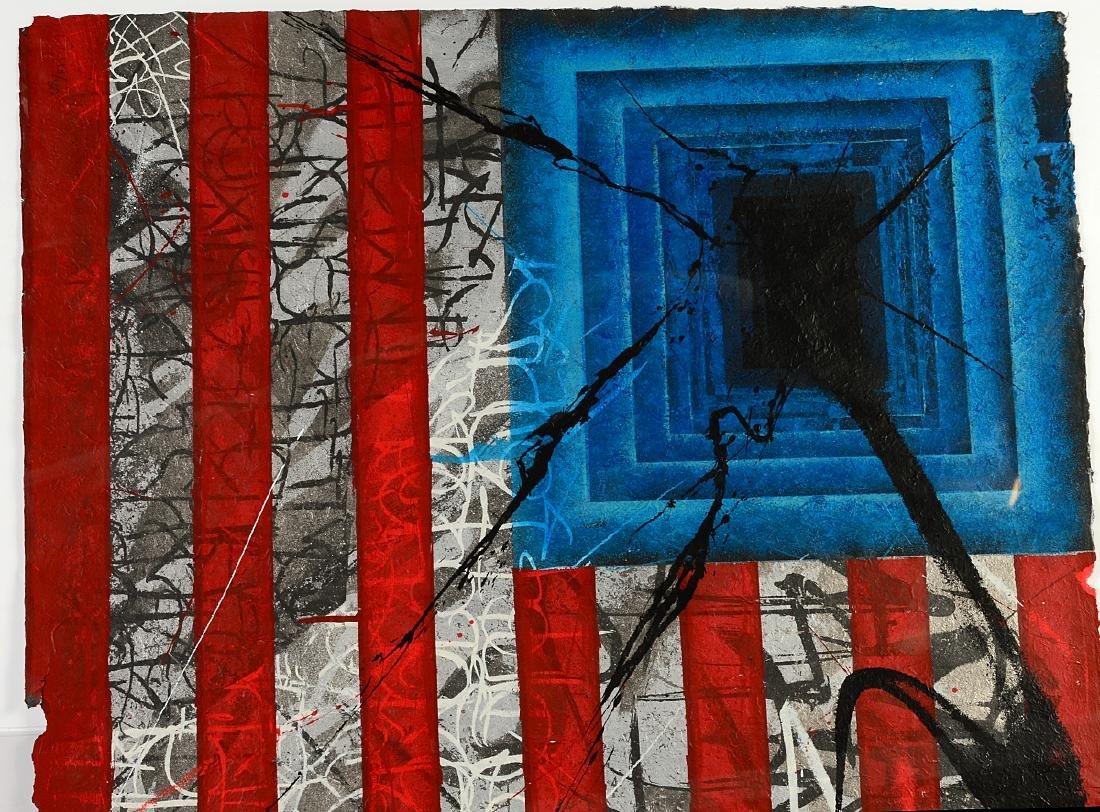 """Saber """"Rebel Flag"""" Print on Canvas - 2"""