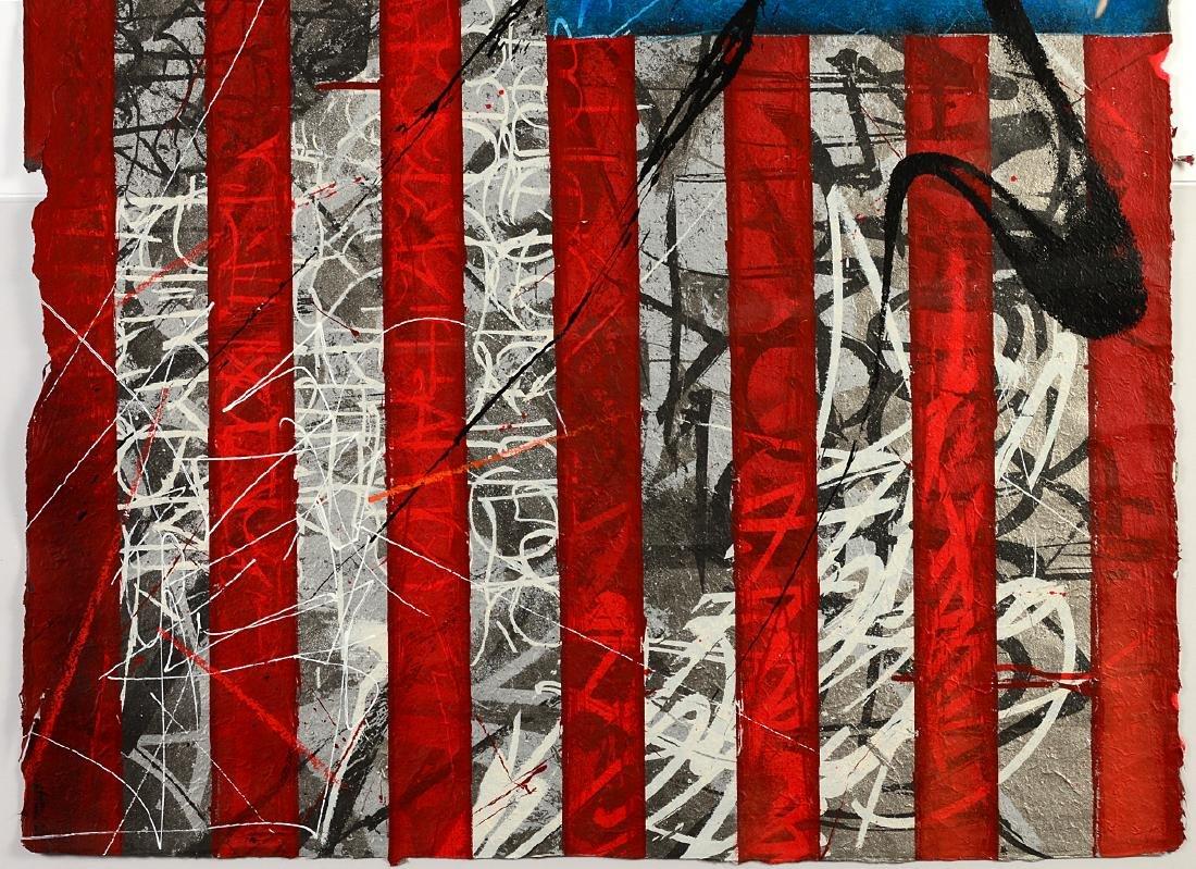 """Saber """"Rebel Flag"""" Print on Canvas - 3"""