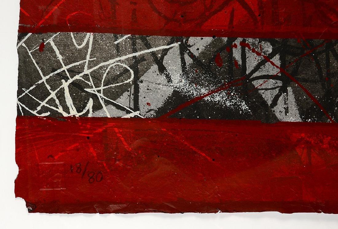 """Saber """"Rebel Flag"""" Print on Canvas - 4"""