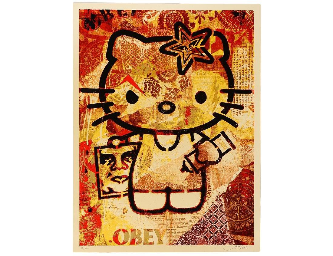 "Shepard Fairey  ""Hello Kitty"" Screen Print"
