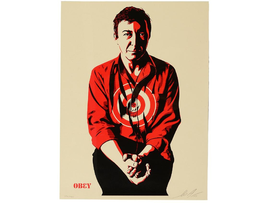 "Shepard Fairey ""Jasper Johns Cream"" Screen Print"