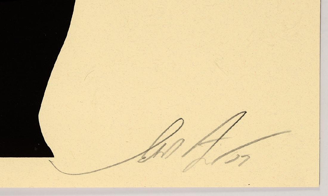 "Shepard Fairey ""Jasper Johns Cream"" Screen Print - 2"