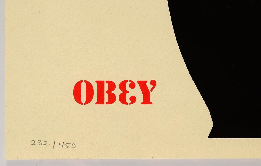 "Shepard Fairey ""Jasper Johns Cream"" Screen Print - 3"