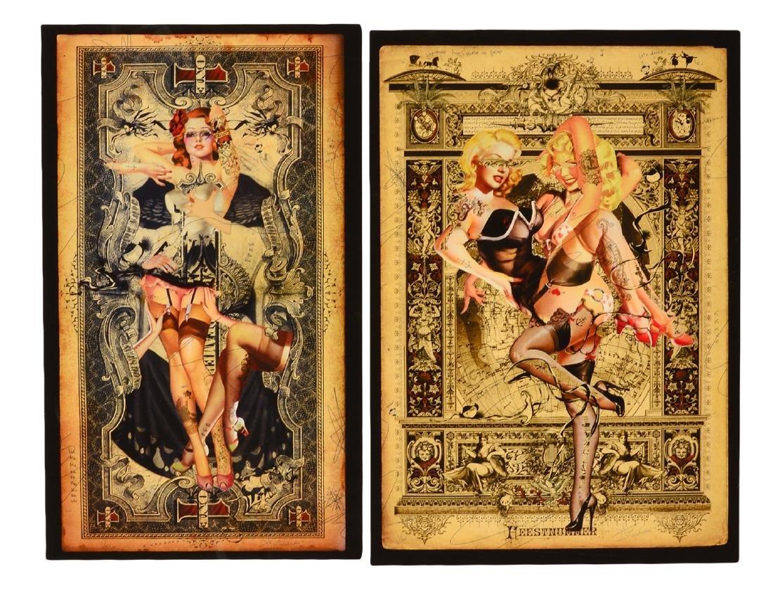 Two (2) Handiedan Art Print Giclees