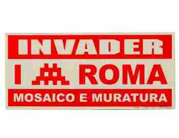 "Invader ""Mosaico E Muratura"" Screen Print"