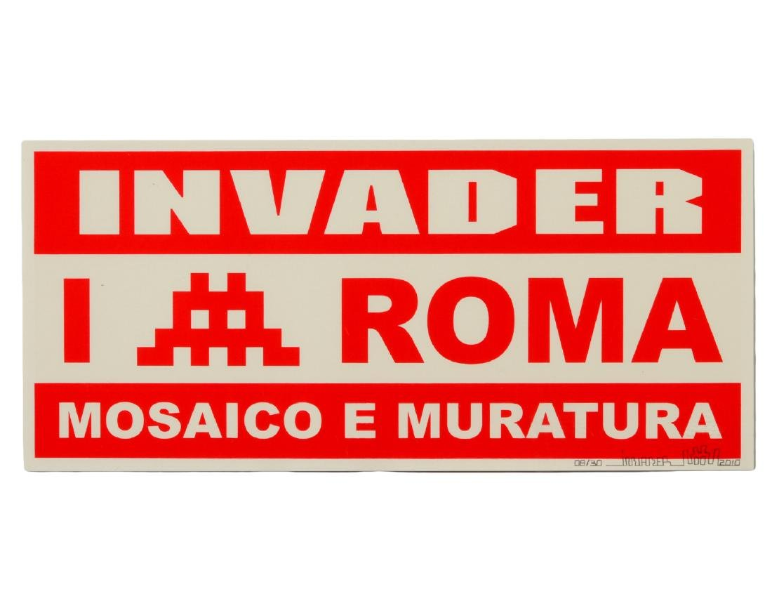 "Invader ""Mosaico E Muratura"" Screen Print"