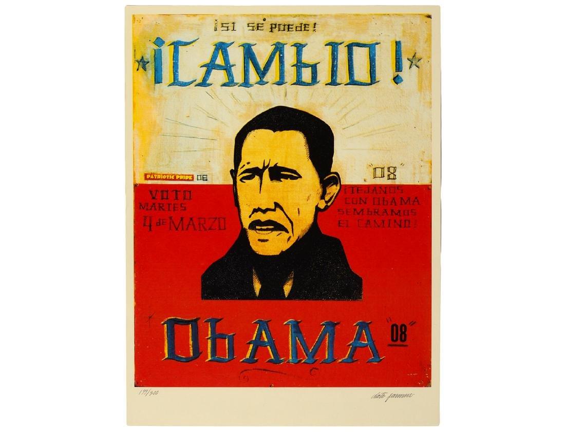 """Date Farmers """"Obama / Cambio"""" Screen Print"""