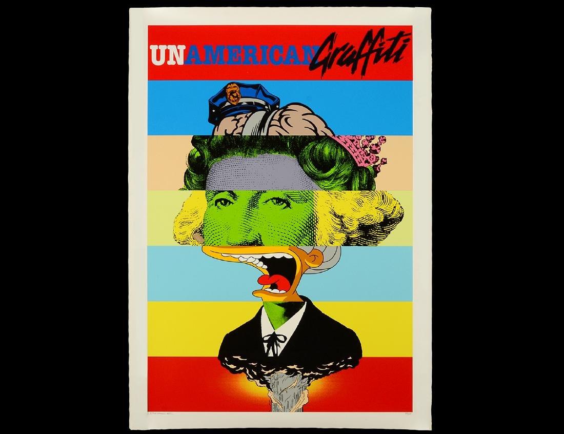 "D'Face ""un-American Graffiti"" Screen Print"