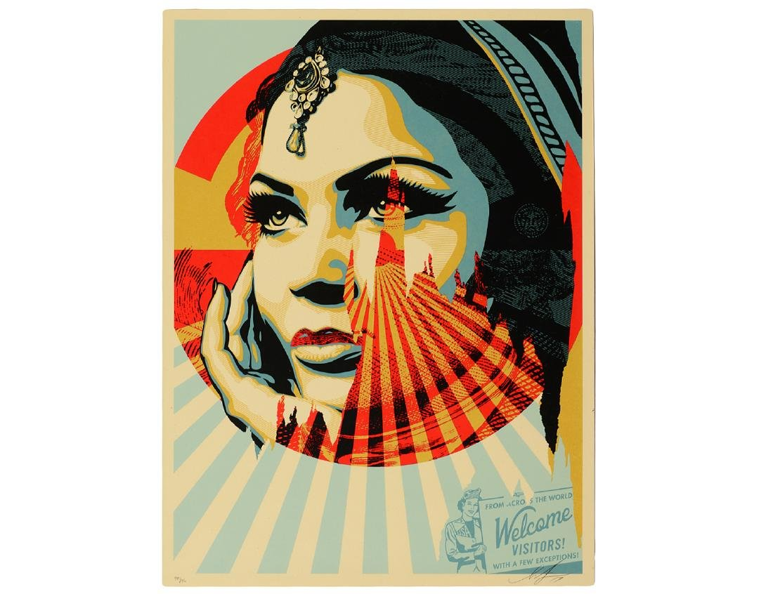 "Shepard Fairey ""Target Exceptions"" Screen Print"