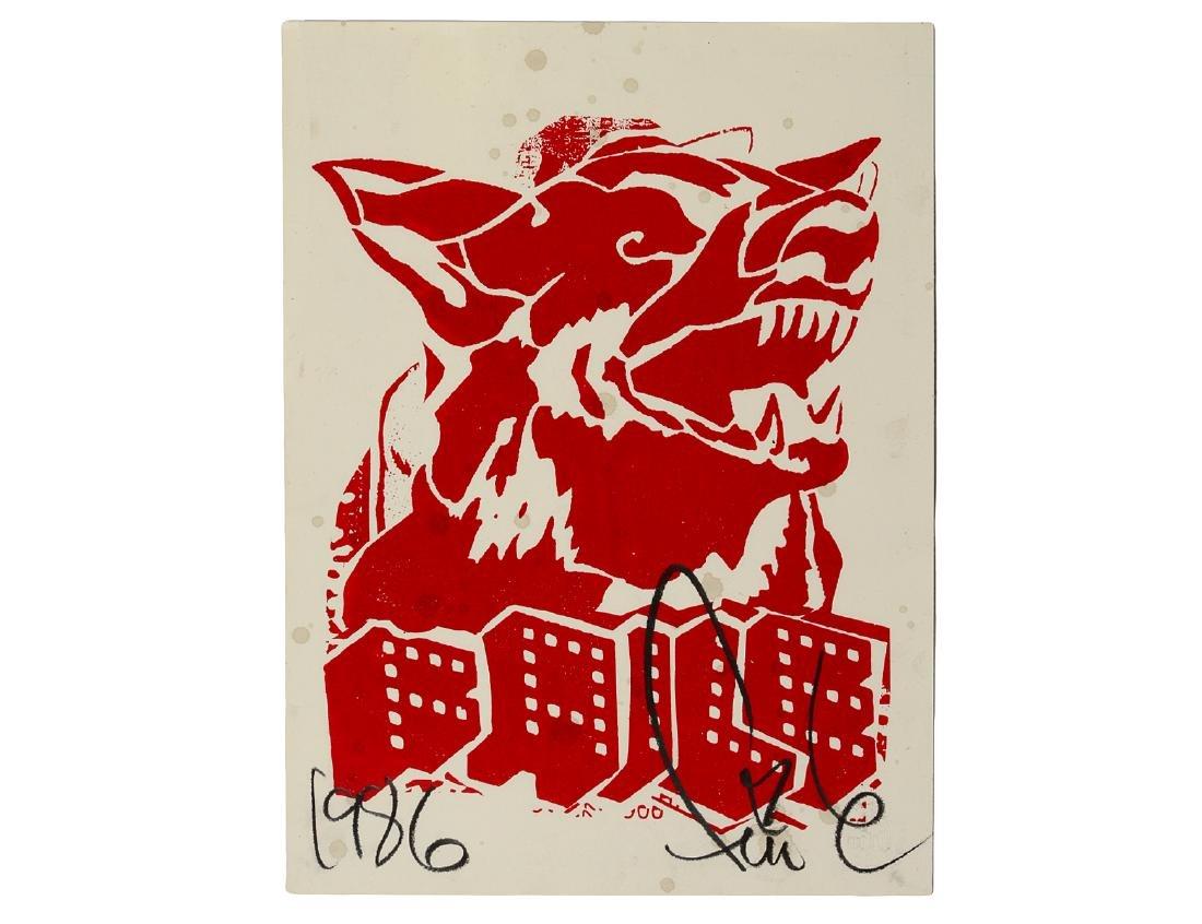 "Faile ""Red Dog"" Silk Screen Print"