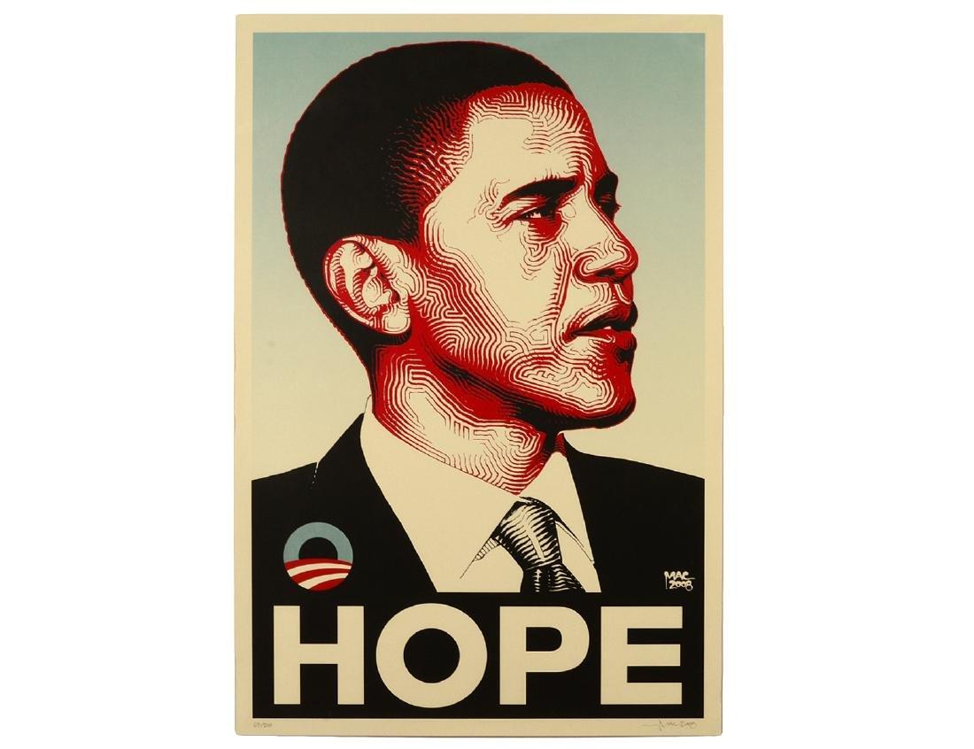 "El Mac ""Obama"" Screen Print"