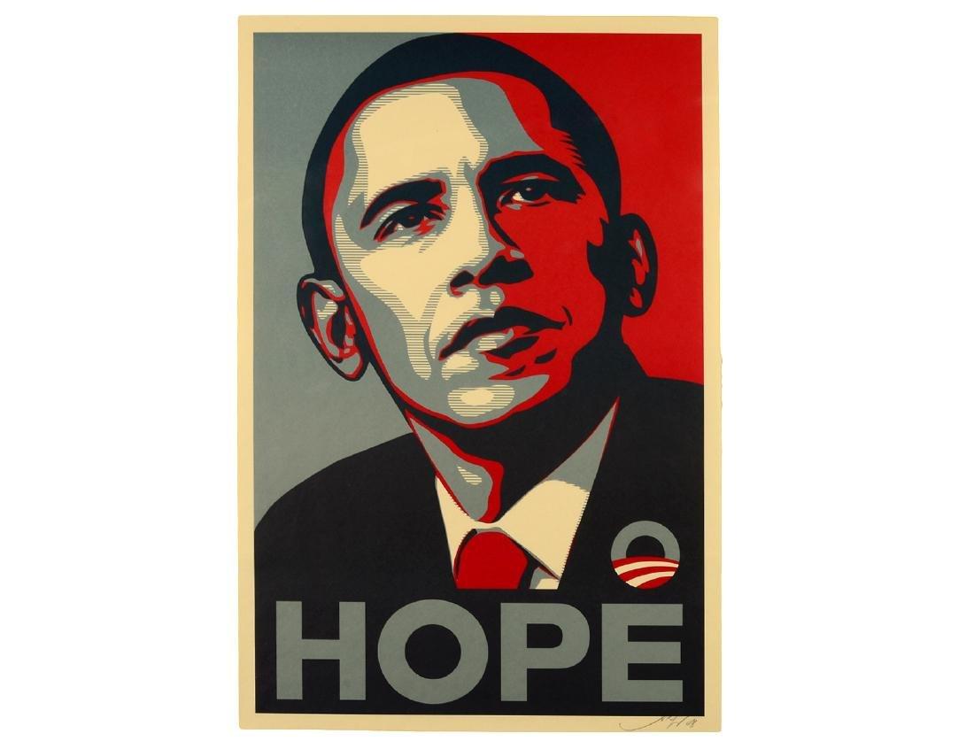"Shepard Fairey Obama ""Hope"" Lithograph"