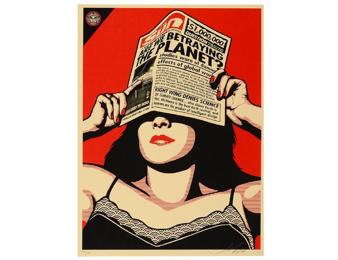 "Shepard Fairey ""Global Warning"" Screen Print"