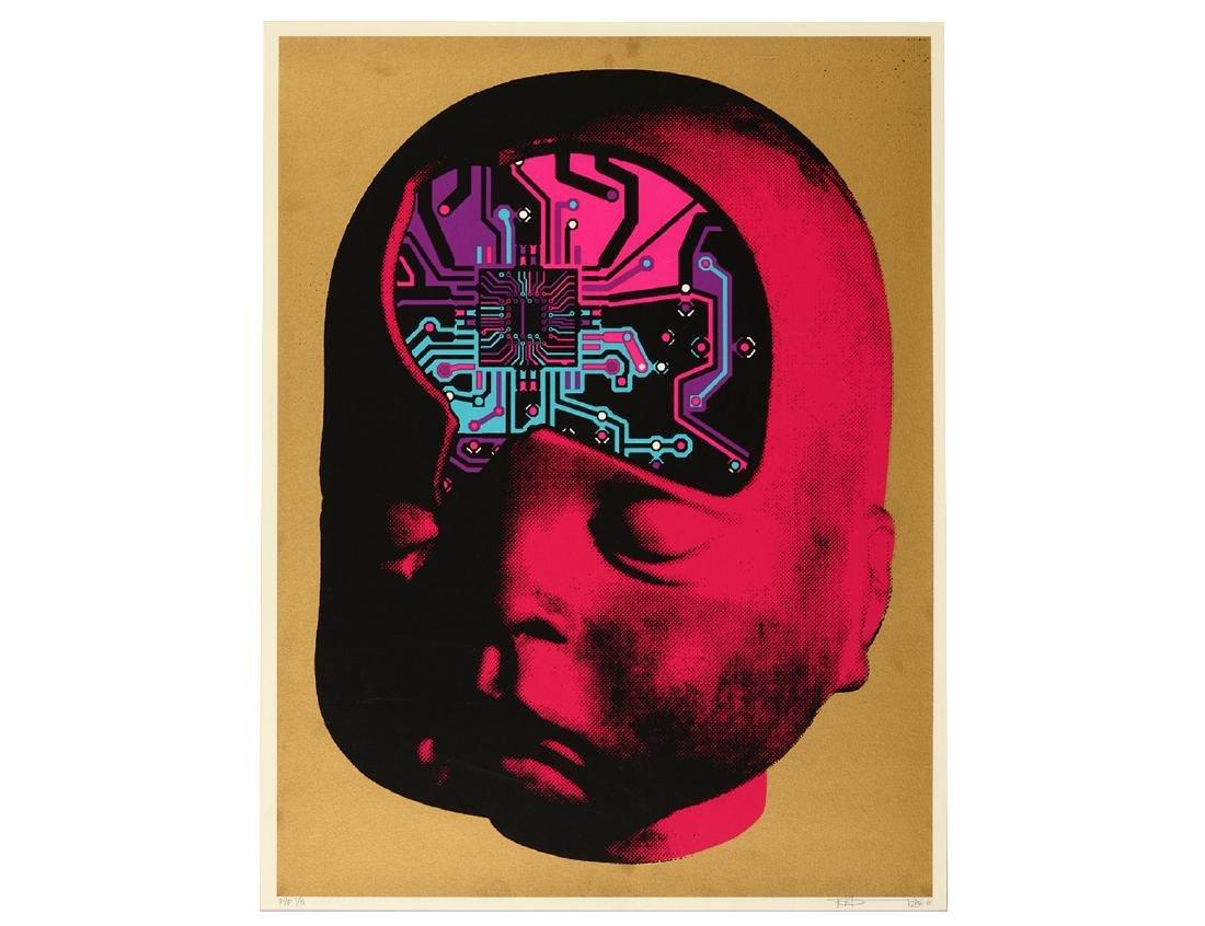 "Paul Insect ""PCB Brain"" Screen Print"