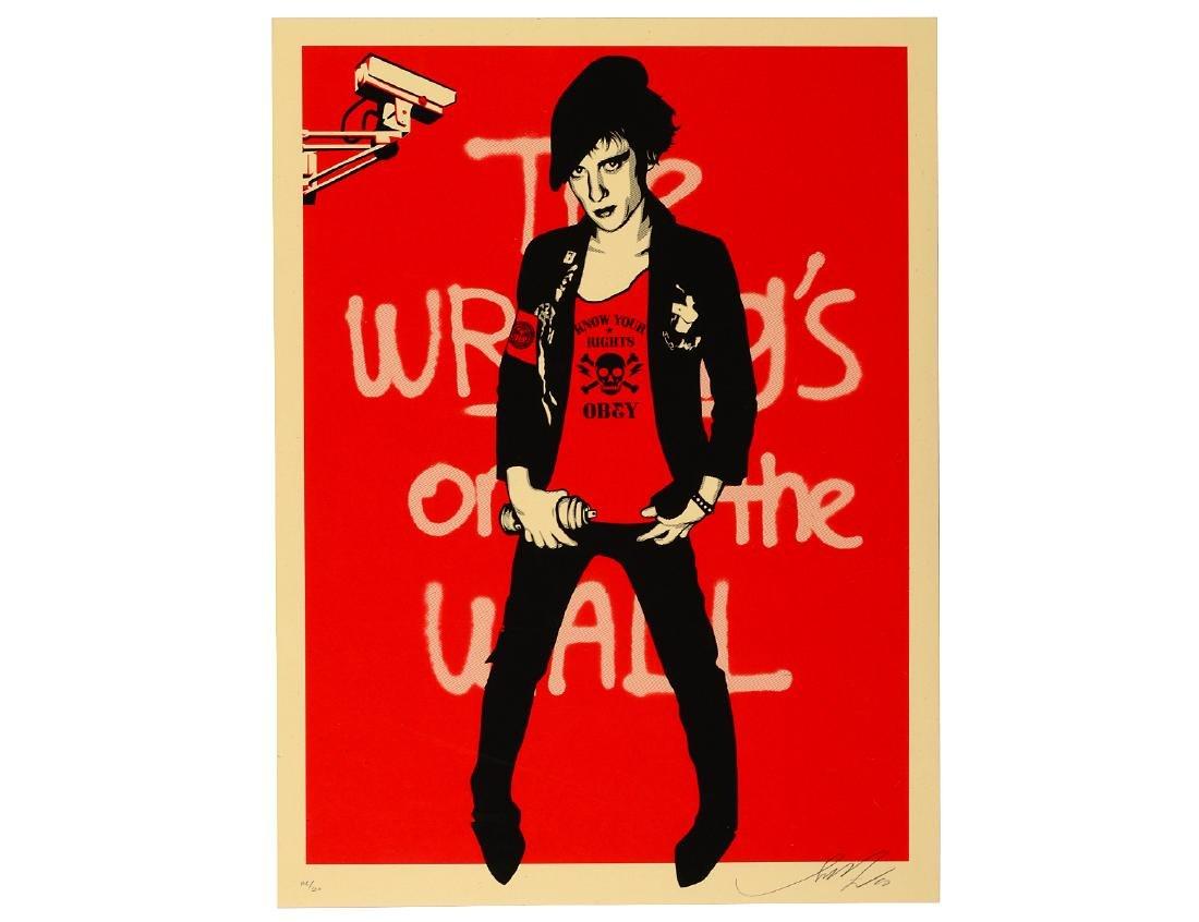 "Shepard Fairey ""Writing On the Wall"" Screen Print"