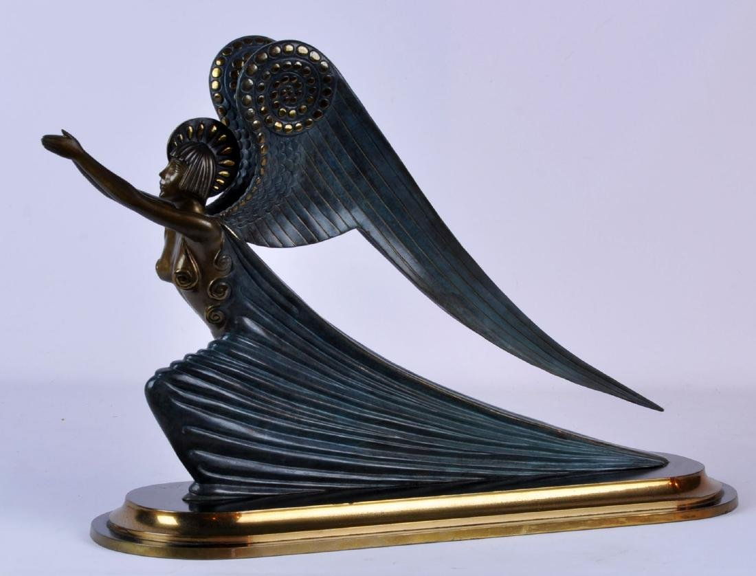 "Erte Bronze Sculpture ""The Angel"" Ltd. Ed."