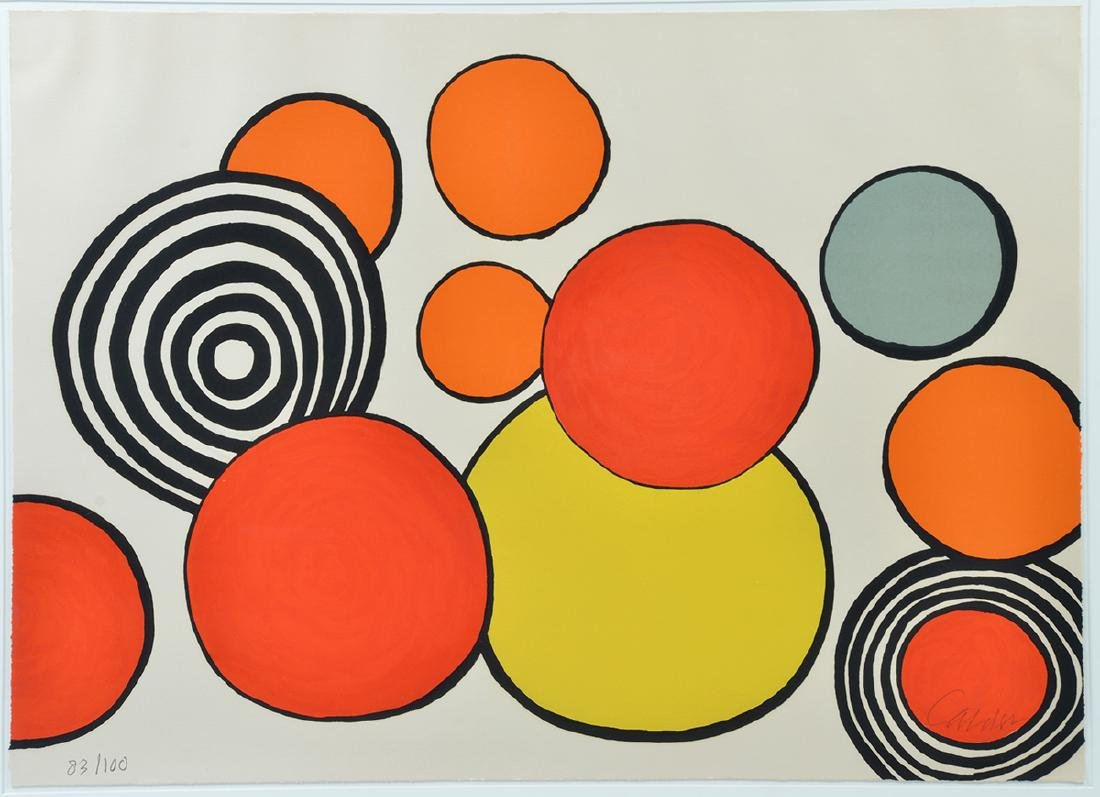 "Signed Alexander Calder ""Composition with Circles"""