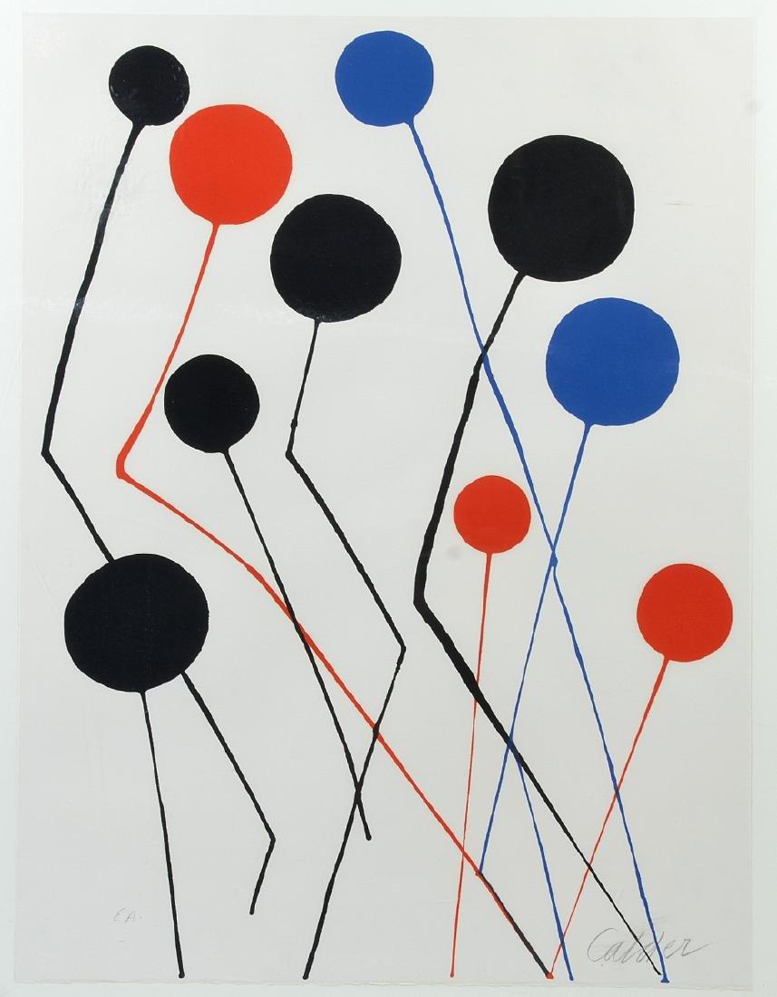 "Signed Alexander Calder ""Balloons"" Lithograph"