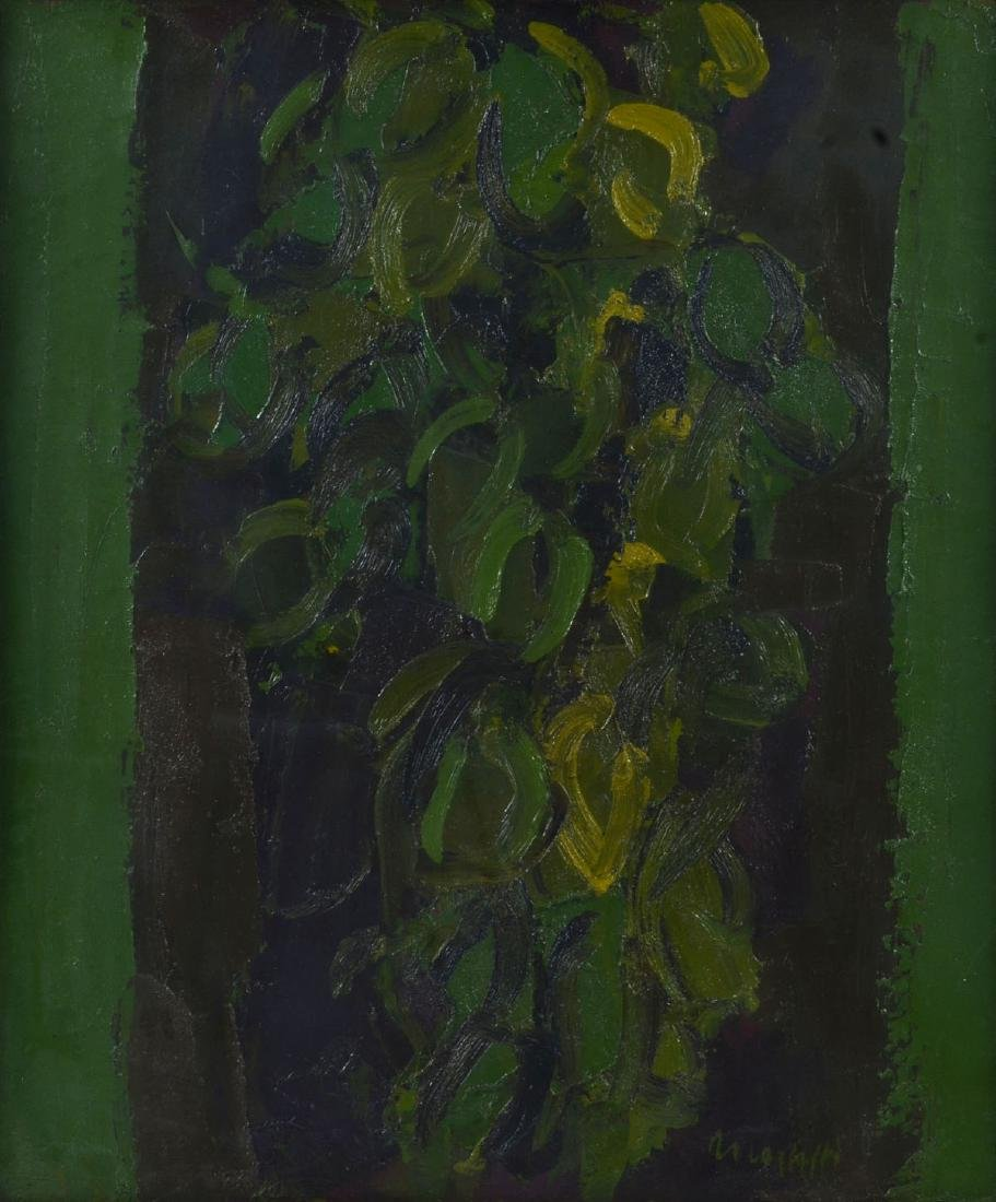 "Ennio Moriotti ""Large Green Composition"" O/C"