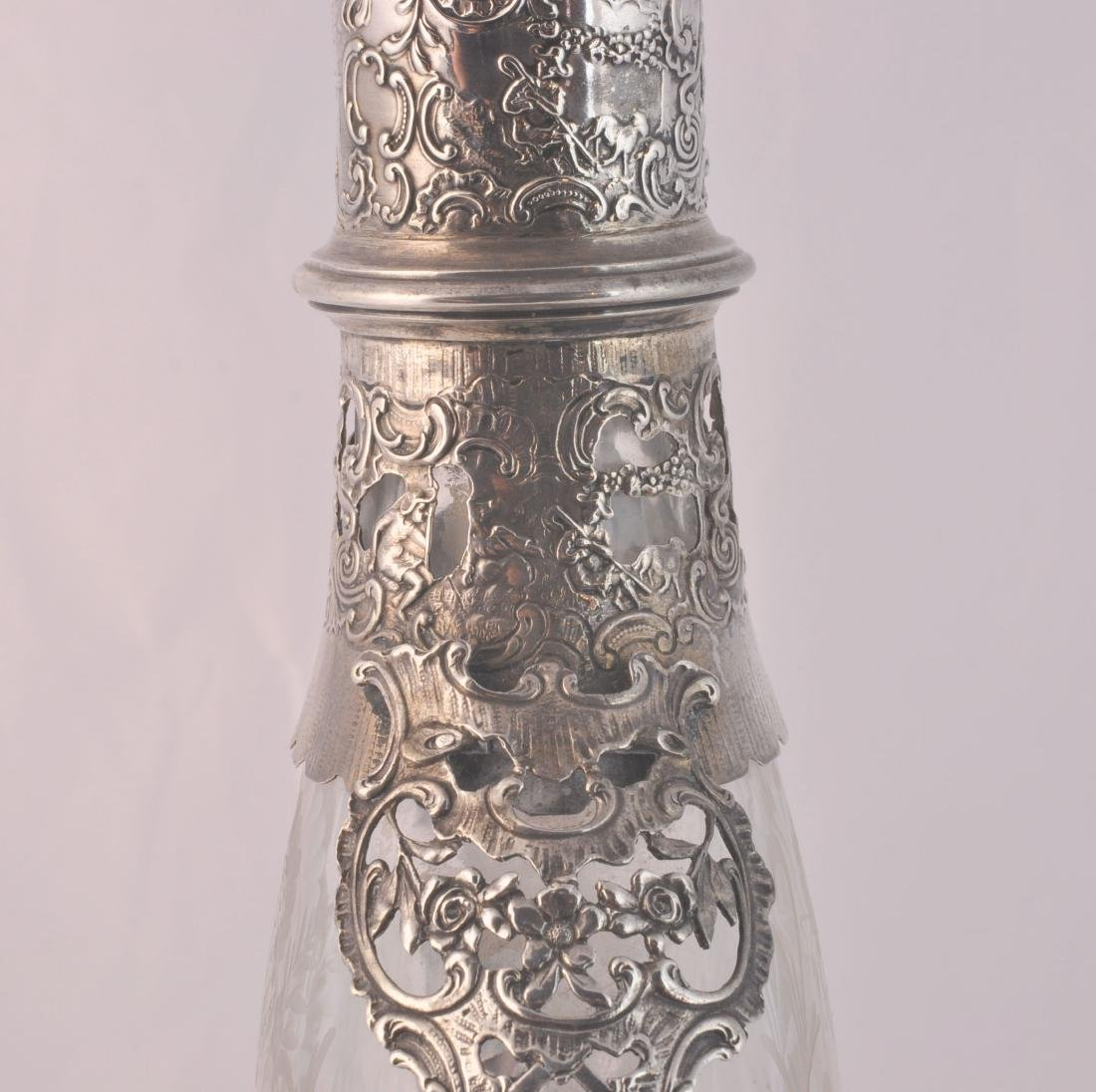German 800 Silver and Crystal Decanter - 5