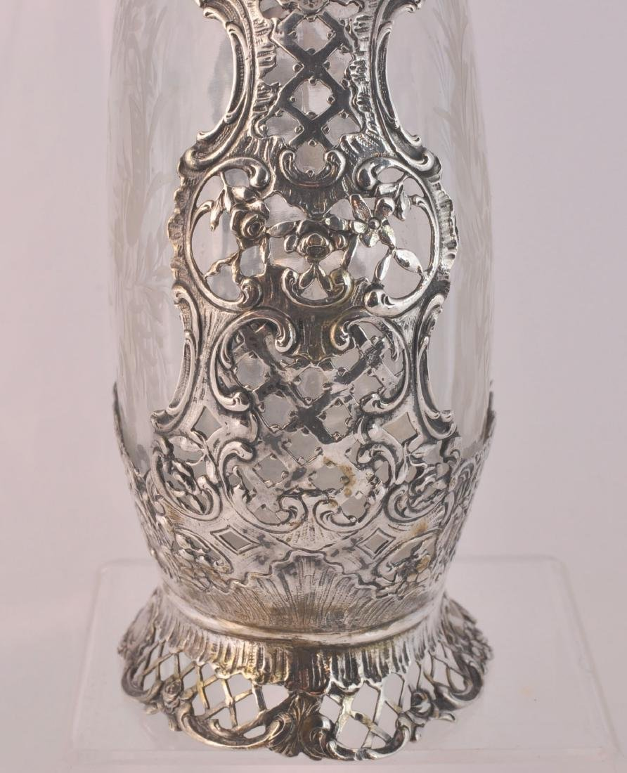German 800 Silver and Crystal Decanter - 6