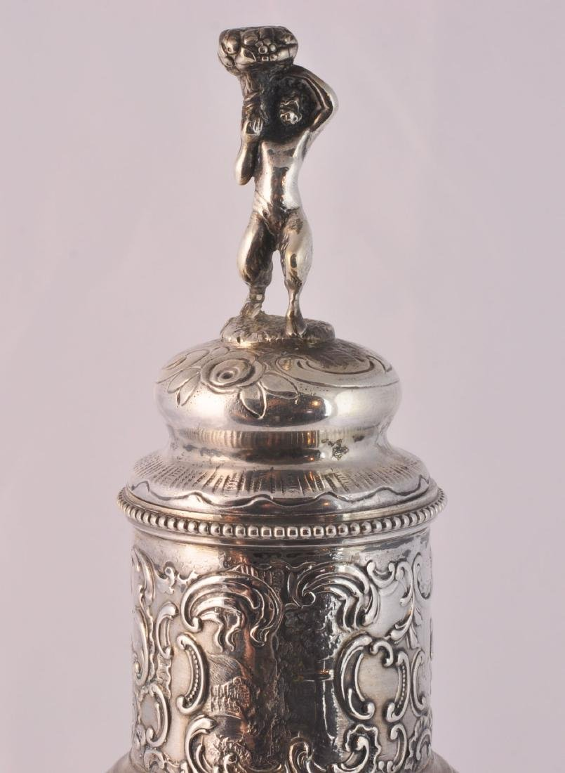 German 800 Silver and Crystal Decanter - 8