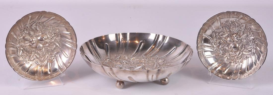 3 Pcs. S. Kirk & Sons Sterling Silver Bonbon Bowls