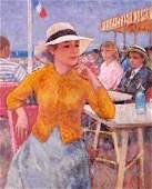 Francois Gall Femme Avec Chapeau OC
