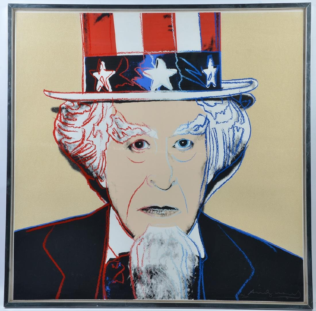 "Andy Warhol ""Uncle Sam"" Screenprint in Colors"