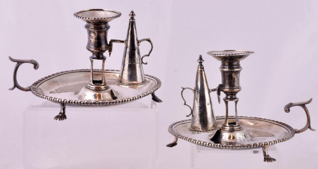 Pr. Sterling Chamber Sticks-LCGC London 1773