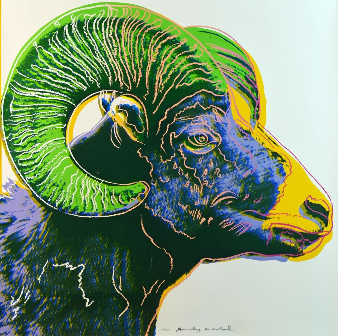 "Andy Warhol ""Bighorn Ram"" Screenprint in Colors"