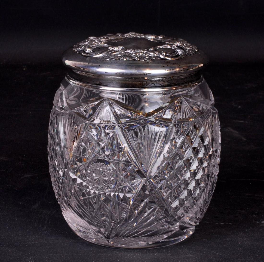 Sterling and Cut Crystal Humidor