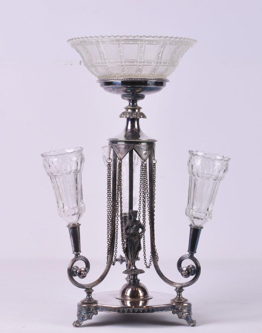 Silverplate Epergne by Horace Woodward & Co.