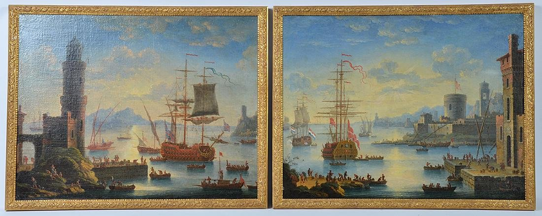 Two 18th C. Paintings Charles-Laurent Grovenbroeck