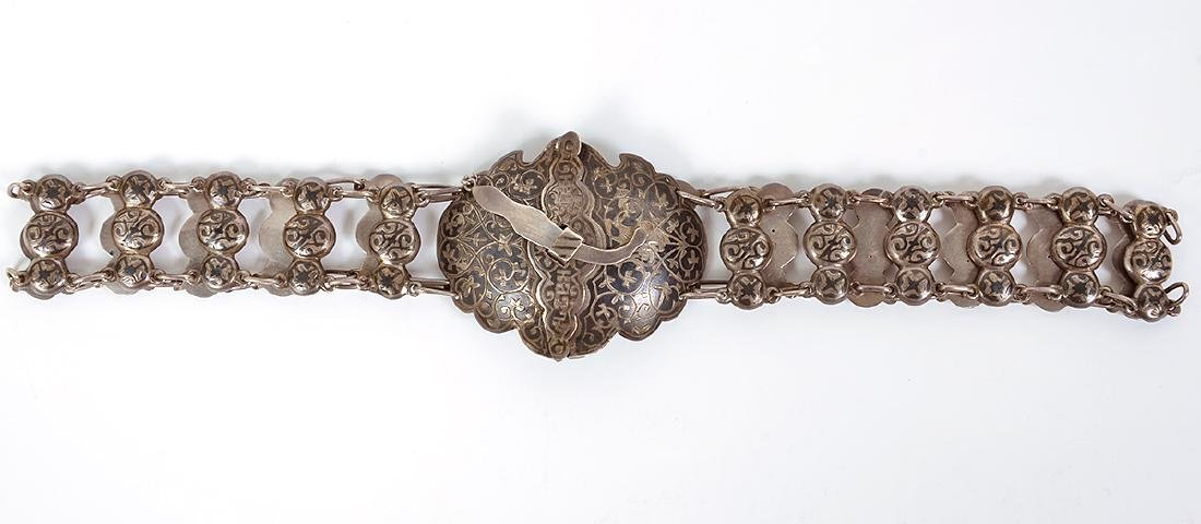 Russian Silver & Niello Cossack Belt