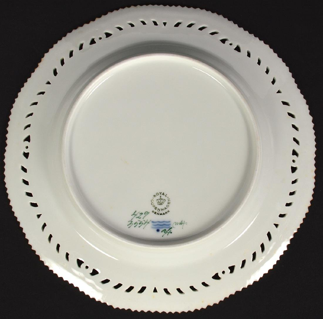 4 Royal Copenhagen Flora Danica Luncheon Plates - 10