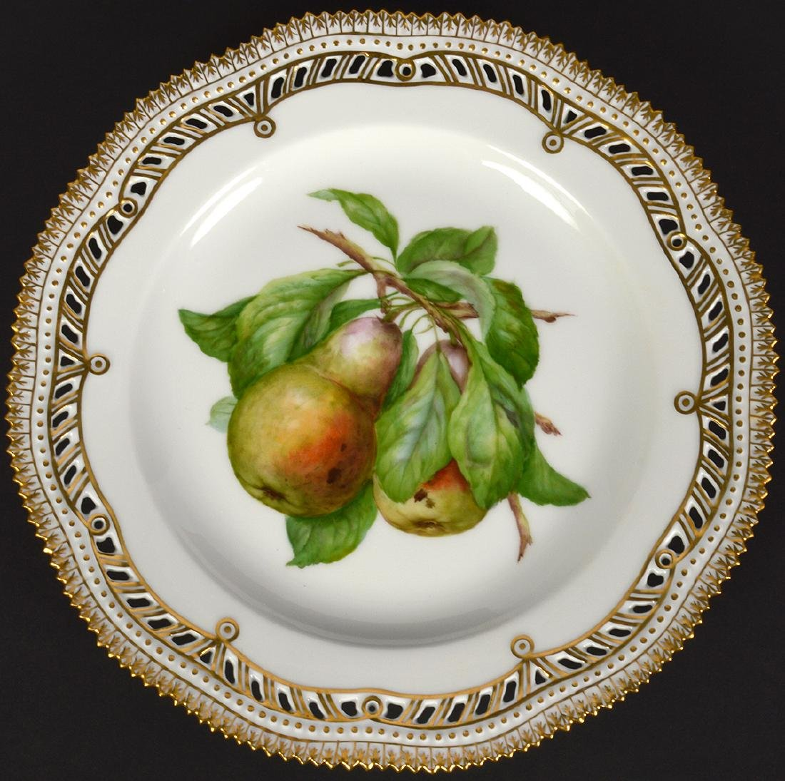 4 Royal Copenhagen Flora Danica Luncheon Plates - 2