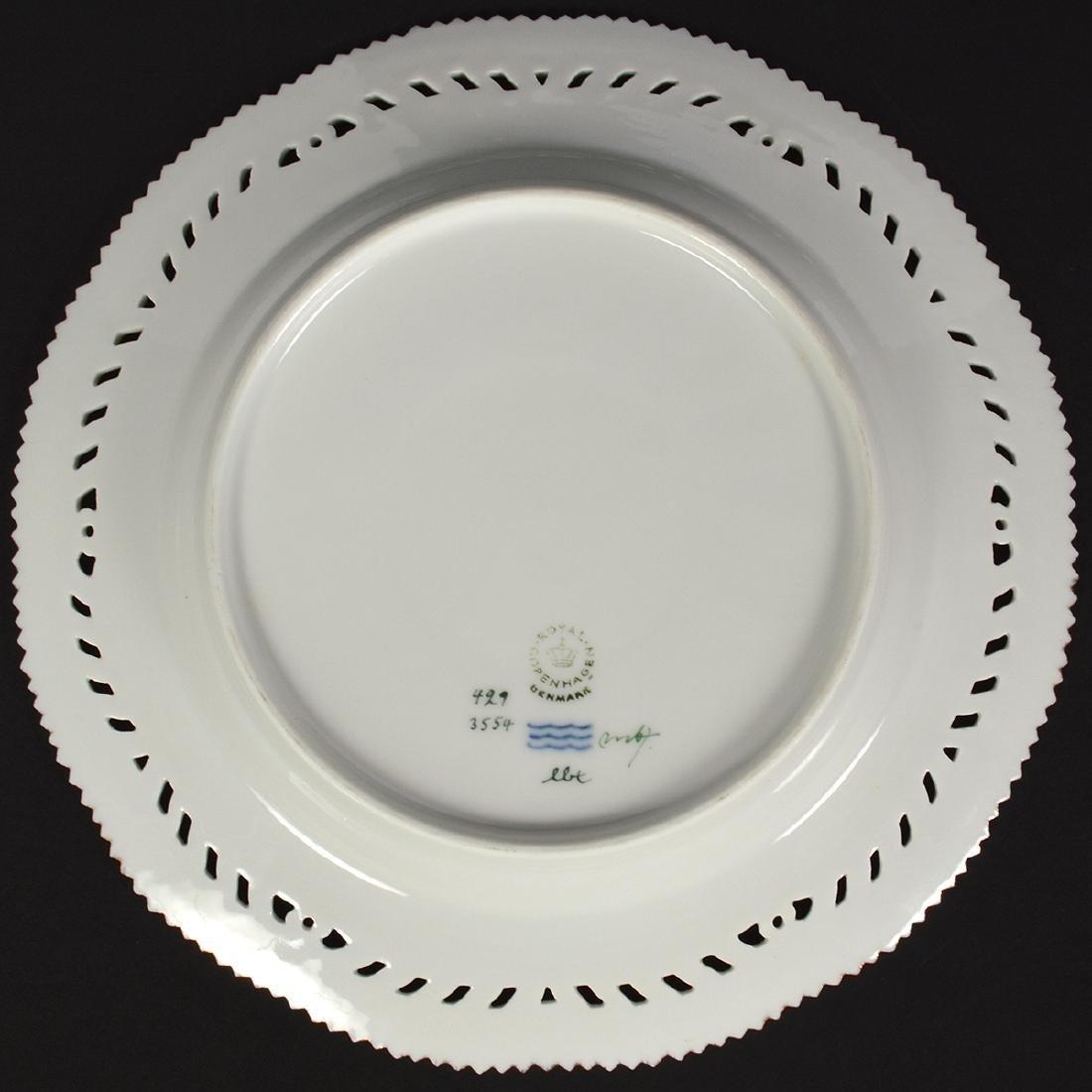 4 Royal Copenhagen Flora Danica Luncheon Plates - 3