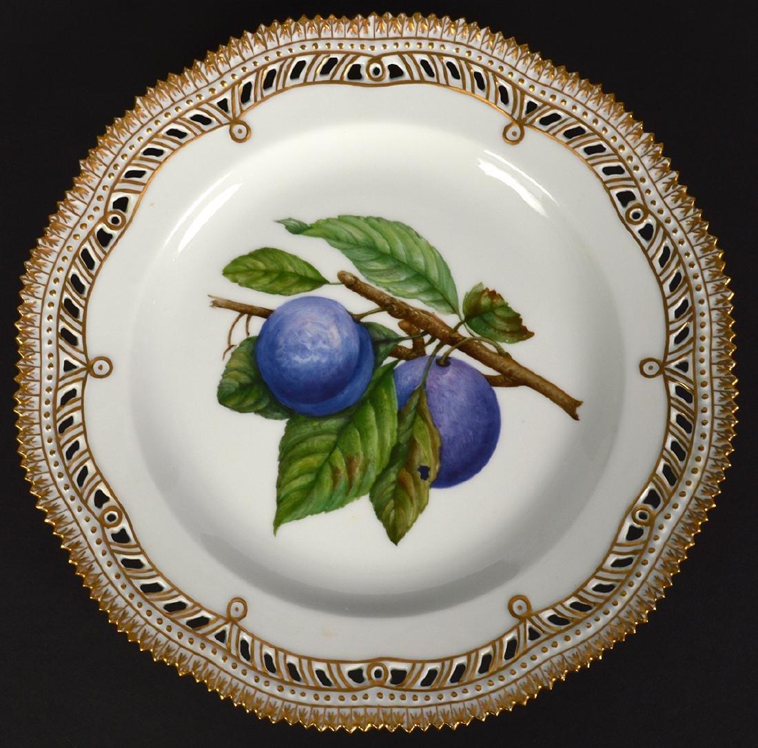 4 Royal Copenhagen Flora Danica Luncheon Plates - 4