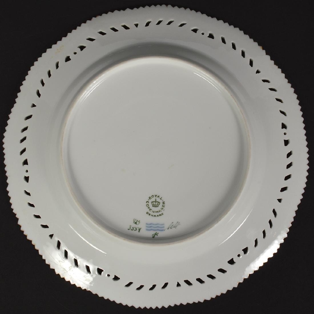 4 Royal Copenhagen Flora Danica Luncheon Plates - 5