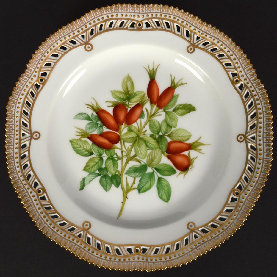 4 Royal Copenhagen Flora Danica Luncheon Plates - 7