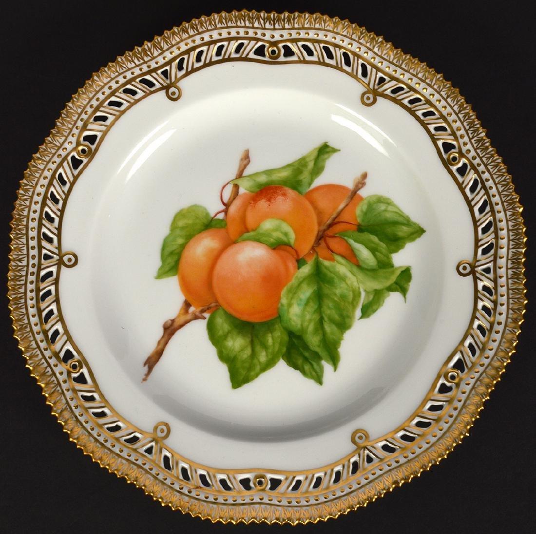 4 Royal Copenhagen Flora Danica Luncheon Plates - 9