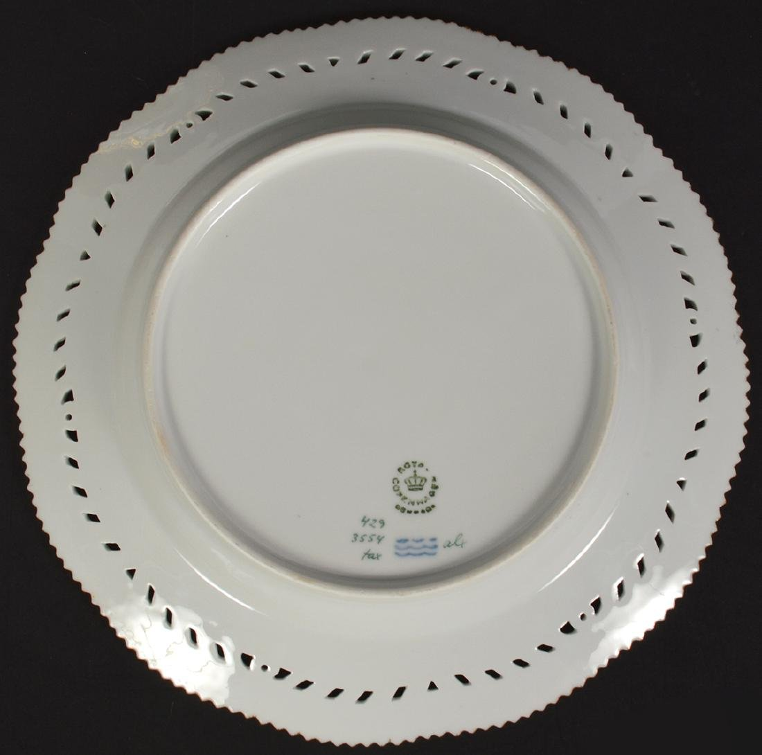 6 Royal Copenhagen Flora Danica Luncheon Plates - 11