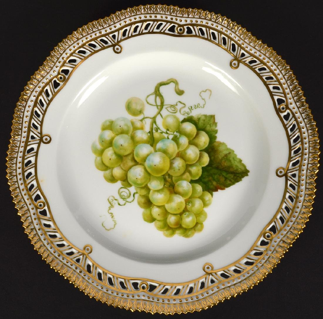 6 Royal Copenhagen Flora Danica Luncheon Plates - 12