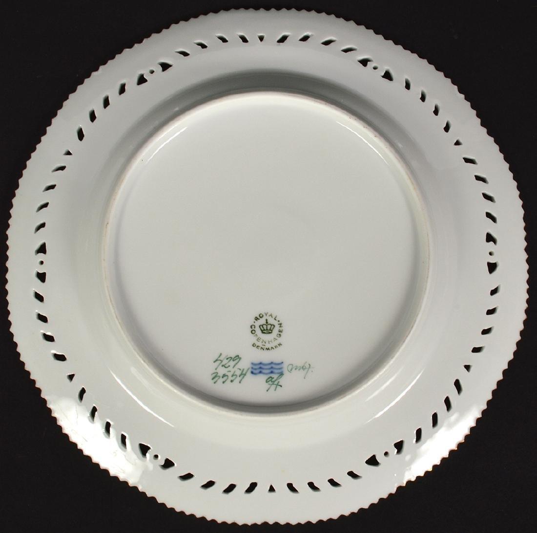 6 Royal Copenhagen Flora Danica Luncheon Plates - 13
